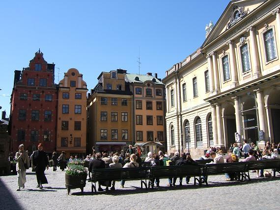 ノーベル博物館前広場