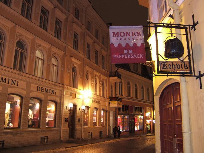 夜10時の旧市街地