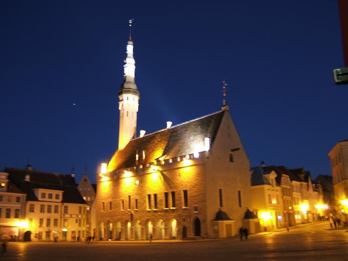 ラエコヤ広場の夜景